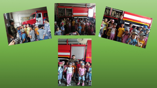 Alau summer camp visited a fire fighting center